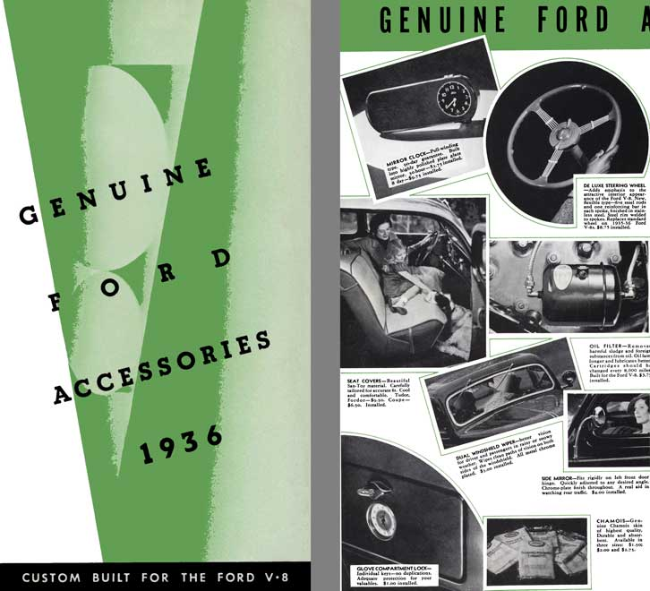 Ford 1936 - Genuine Ford Accessories 1936 - Custom Built for the Ford V-8
