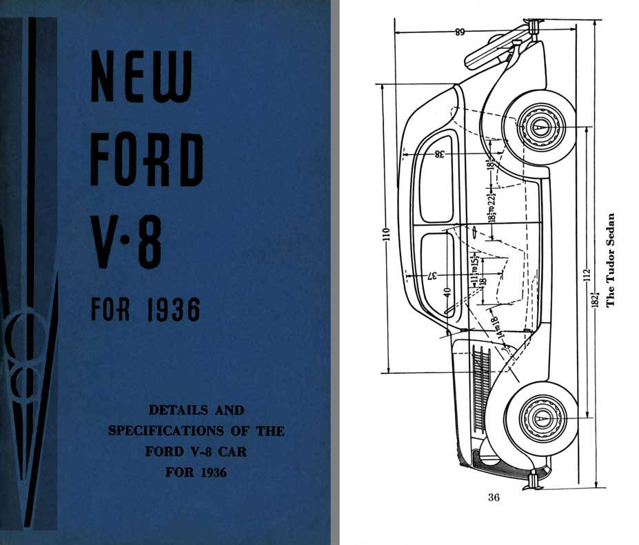 Ford 1936 - New Ford V-8 for 1936 - Details & Specifications of the Ford V-8 Car for 1936