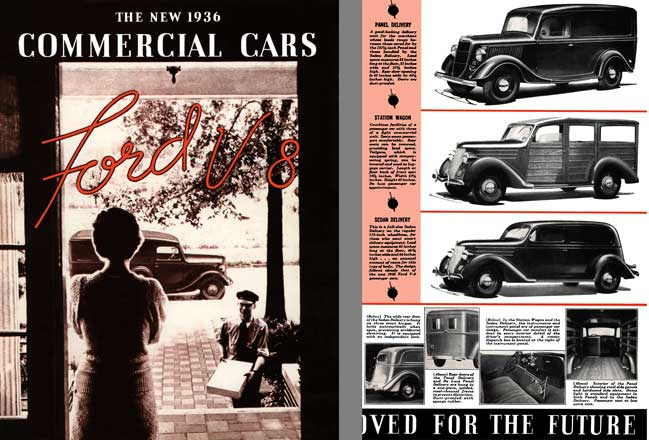 Ford 1936 - The New 1936 Commercial Cars Ford V8