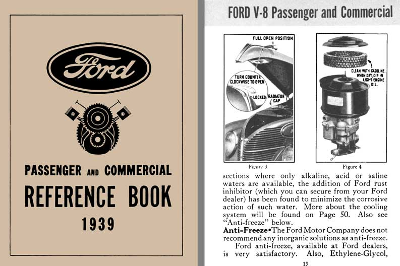 Ford 1939 - Ford Passenger & Commercial Reference Book 1939