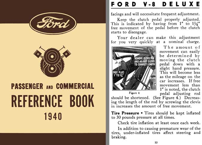 Ford 1940 - Ford Passenger & Commercial Reference Book 1940