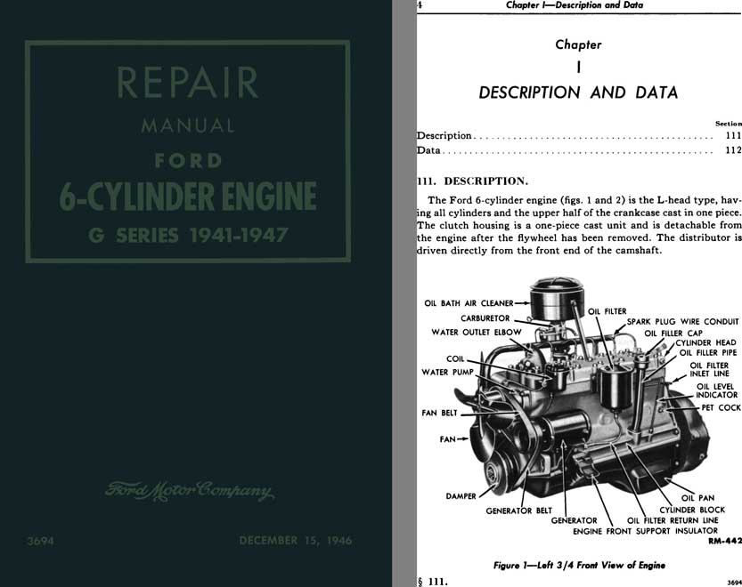 Ford 1941 - 1947 - Repair Manual Ford 6-Cylinder Engine G Series 1941 - 1947