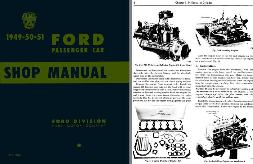 Ford 1949 - 50 - 51 Ford Passenger Car - Shop Manual