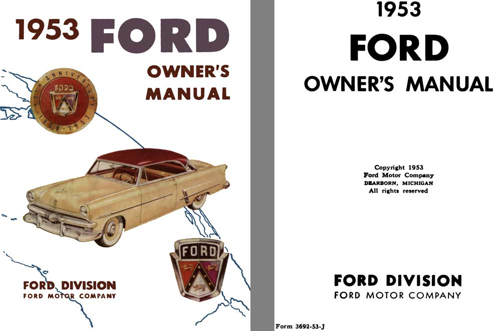 Ford 1953 - 1953 Ford Owner's Manual