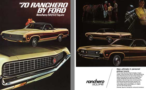 Ford 1970 - '70 Ranchero by Ford  Ranchero/500/GT/Squire