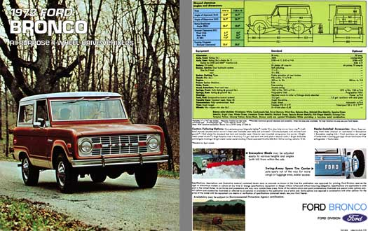 Ford 1973 - 1973 Ford Bronco - All Purpose 4-Wheel Drive Vehicle