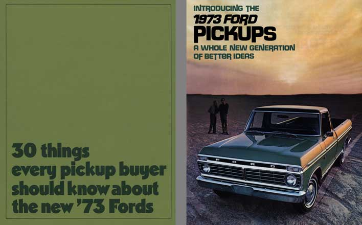 Ford 1973 - 30 Things every Pickup Buyer Should Know About the New '73 Fords
