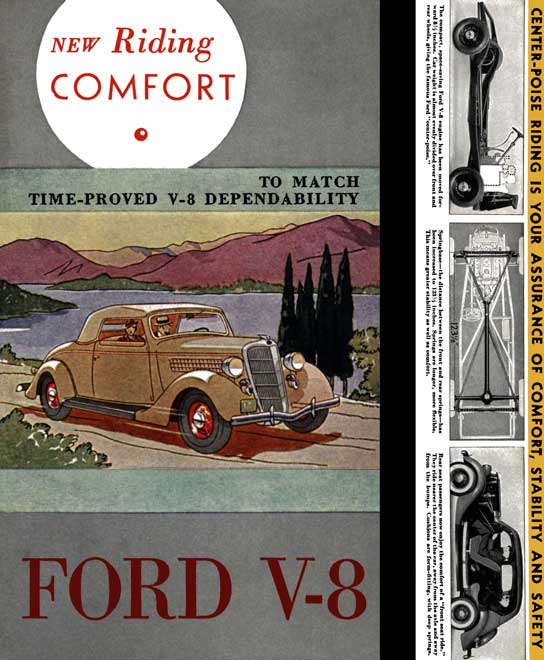 Ford c1935 - Ford V-8 - New Riding Comfort - to Match Time-Proved V-8 Dependability