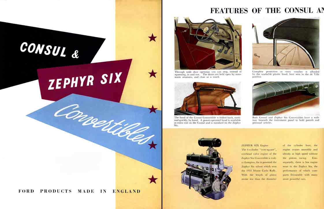Ford consul zephyr six convertibles c1953 ebay for Consul catalog