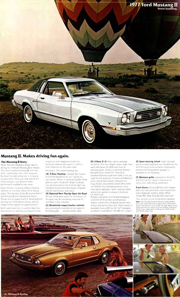 Ford Mustang 1977 - 1977 Ford Mustang II - Sweet handling