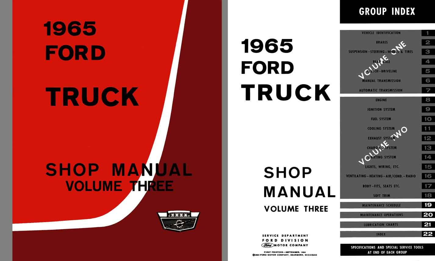 Ford Truck 1965 - Shop Manual Volume Three