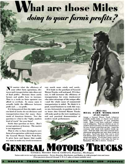 General Motors 1929 - Gm Truck Ad - What are those Miles doing to your farm's profits?