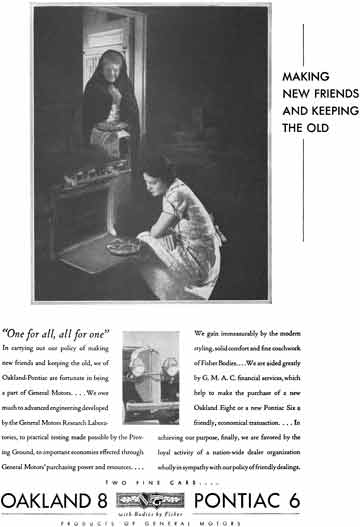General Motors 1931 - General Motors Ad - Making New Friends and Keeping the Old