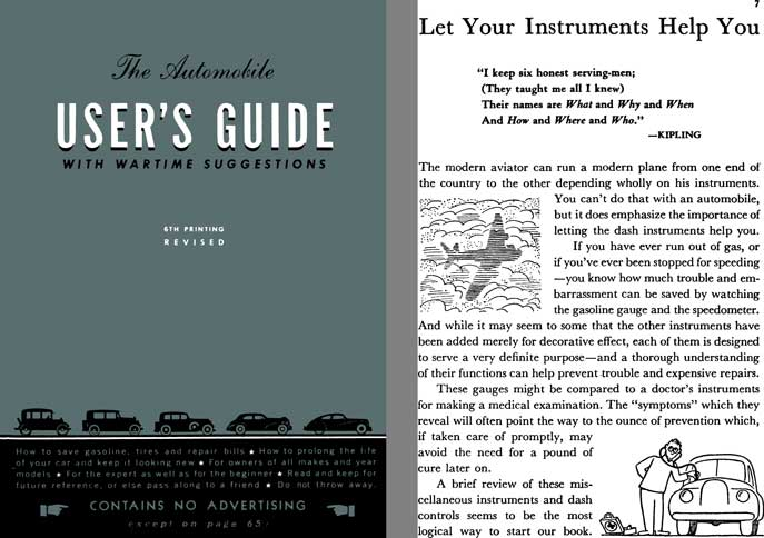 General Motors 1942 - The Automobile User's Guide with Wartime Suggestions