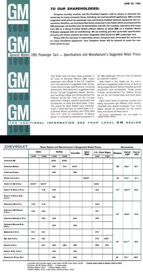 General Motors Passenger Cars Id