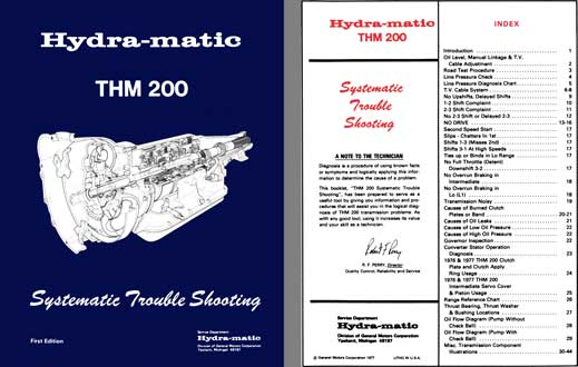 General Motors 1977 - Hydra-matic THM 200 Systematic Trouble Shooting