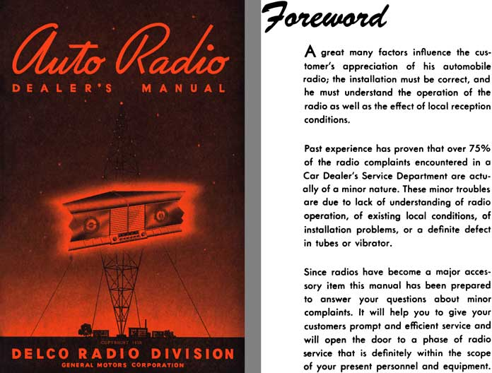 General Motors c1940 - Auto Radio Dealer's Manual - Delco Radio Division
