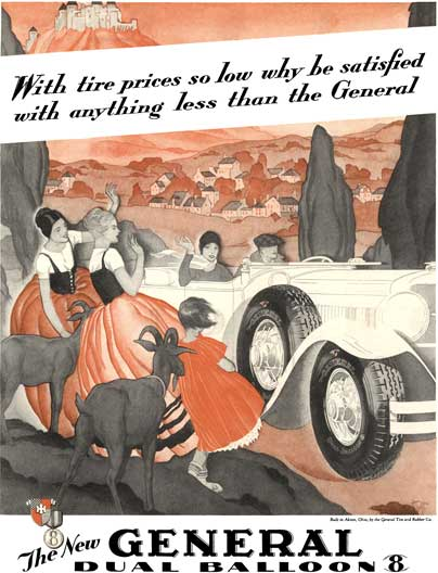 General Tire 1929 - General Tire Ad - With tire prices so low why be satisfied with anything less