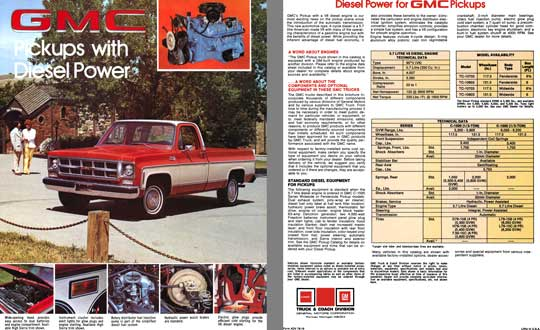 GMC 1978 - GMC Pickups with Diesel Power