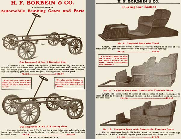 H.F. Borbein 1904 - H.F. Borbein & Co, Manufacturers of Automobile Running Gears and Parts