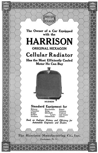 Harrison 1916 - Harrison Ad - The Owner of a Car Equipped with the Harrison Original Hexagon