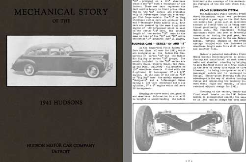 Hudson 1941 - Mechanical Story of the 1941 Hudsons