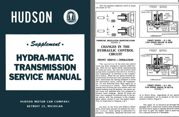 Hudson 1951, 1953 - Hudson Supplement Hydra-Matic Transmission Service Manual