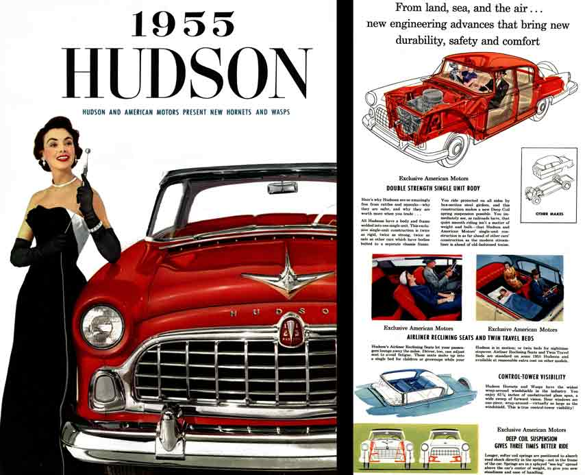 Hudson 1955 - 1955 Hudson - Hudson and American Motors Present New Hornets and Wasps