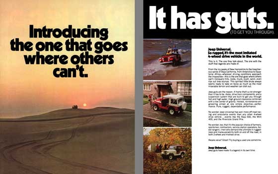 Jeep 1971 - Introducing the one that goes where others can't