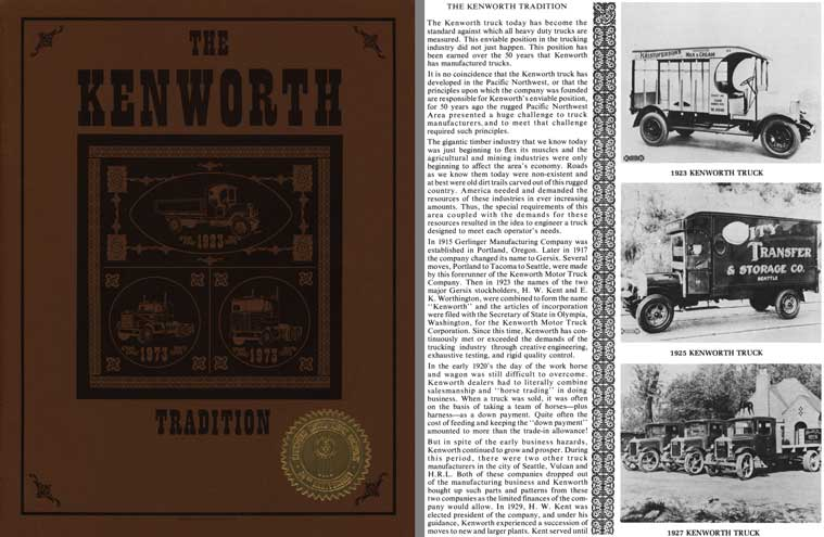 Kenworth 1973 - The Kenworth Tradition 50th Anniversary 1923 - 1973