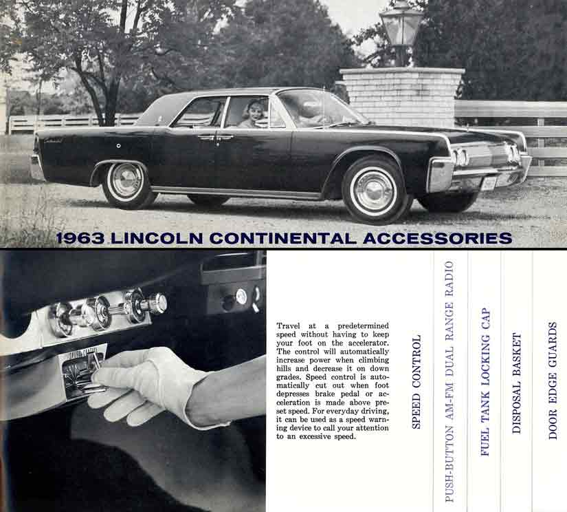 Continental Lincoln 1963 Accessories