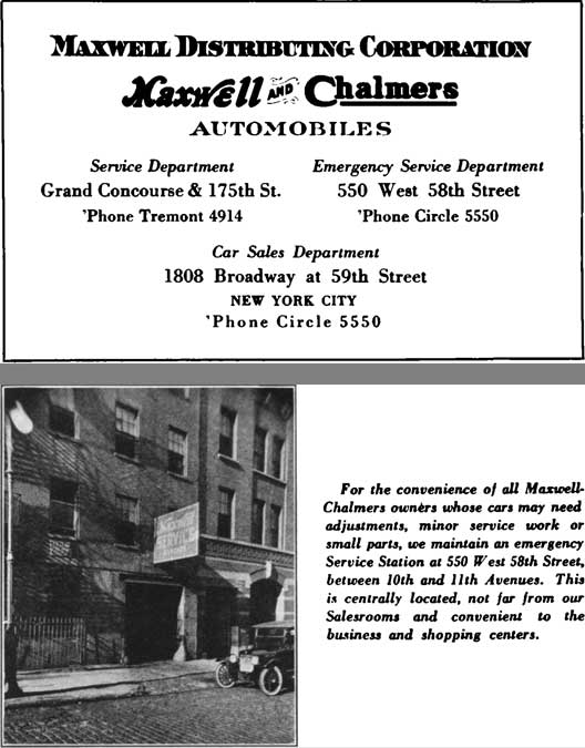 Maxwell 1921 - Maxwell Distributing Corporation - Maxwell and Chalmers Automobiles