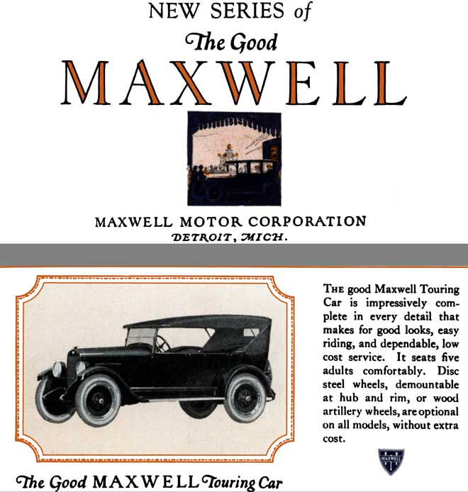 Maxwell 1922 - New Series of The Good Maxwell