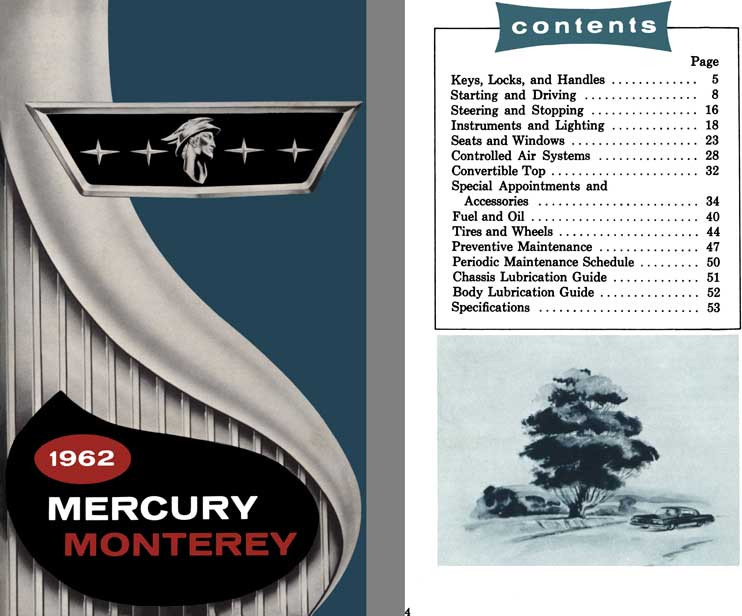 Lincoln -Mercury 1962 - 1962 Mercury Monterey Owner's Manual