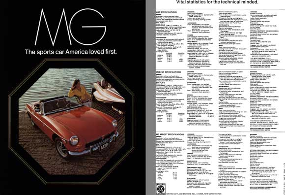 MG 1973 - MG  The Sports Car America Loved First