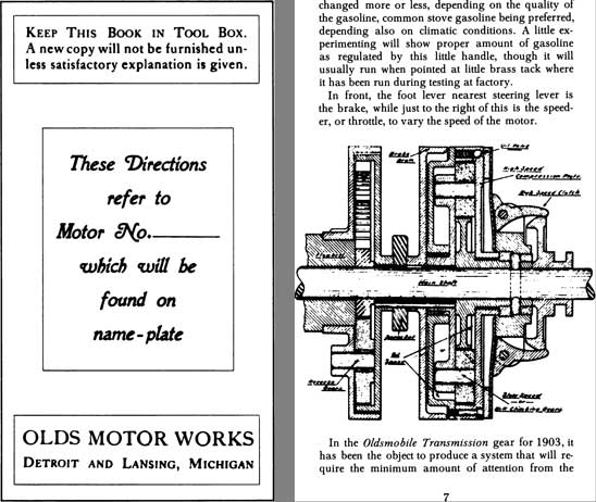 Oldsmobile 1904 - 1904 Oldsmobile Owner's Manual