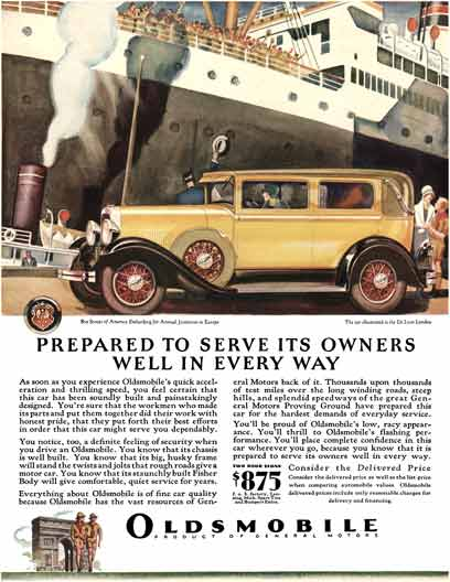 Oldsmobile 1929 - Oldsmobile Ad - Prepared to Serve its Owners Well in Every Way