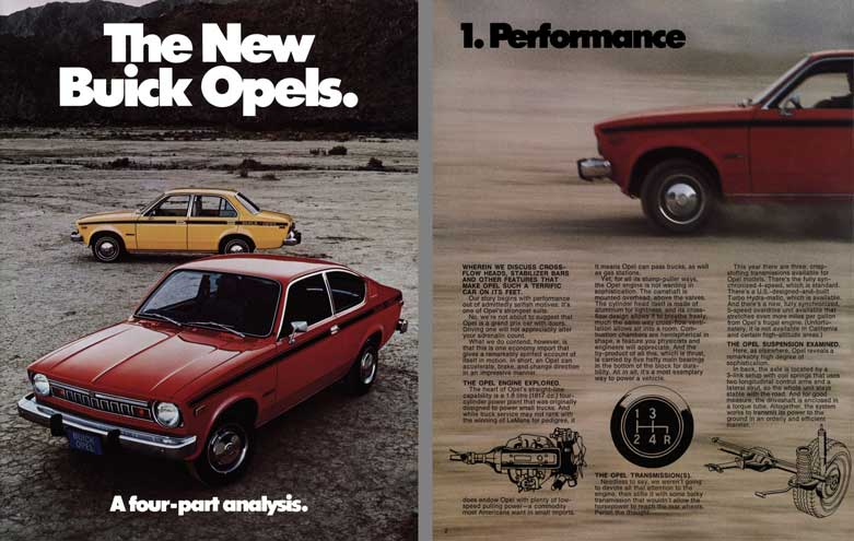 Buick Opel (c1970) - The New Buick Opels.  A four-part analysis
