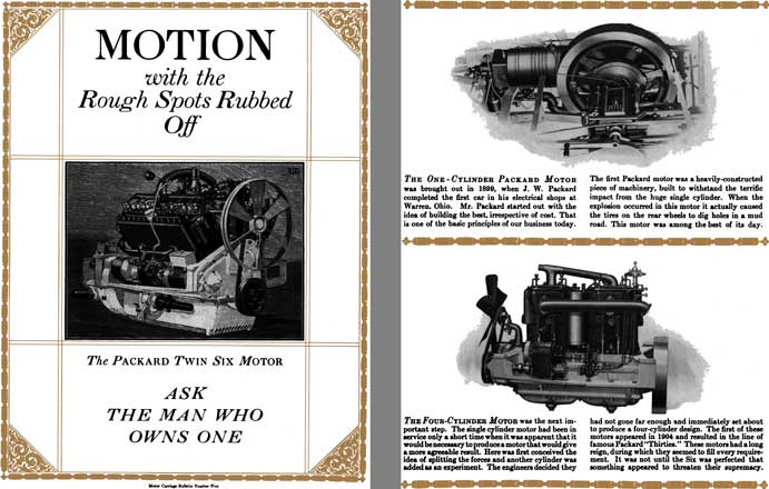 Packard 1916 - Motion with the Rough Spots Rubbed Off - The Packard Twin Six Motor