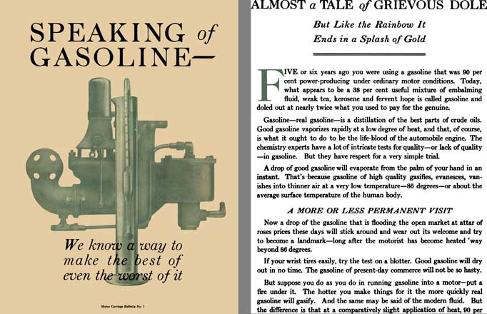 Packard 1916 - Speaking of Gasoline - We Know a Way of Make the Best of Even the Worst of it
