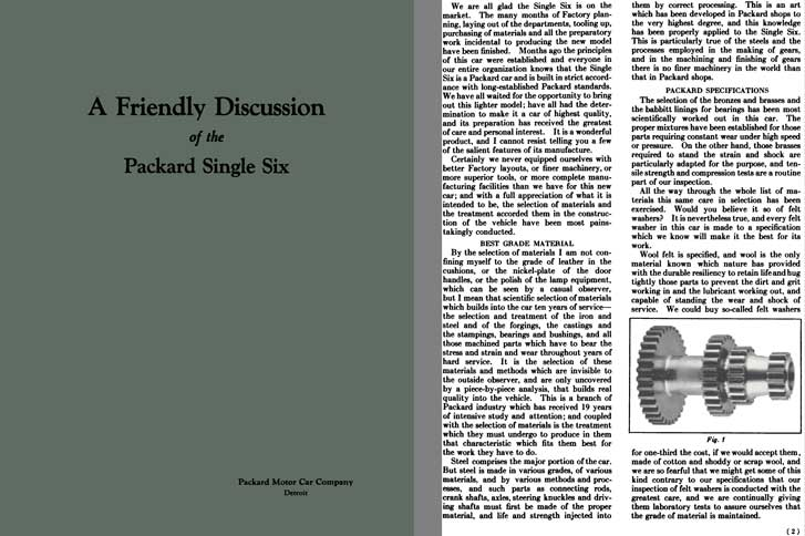Packard 1920 - A Friendly Discussion of the Packard Single Six