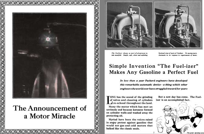 Packard 1920 - The Announcement of a Motor Miracle - The Fuel-izer