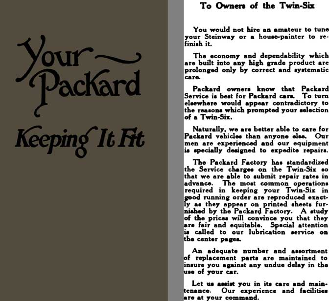 Packard 1921 - Your ~ Packard Keeping It Fit (Twin Six)
