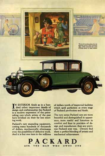 Packard 1927 - Packard Ad - The art of enameling dates from the fifteenth century when Venetian