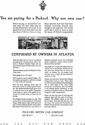 Packard 1929 - Packard Ad - You are paying for a Packard.  Why not own one?
