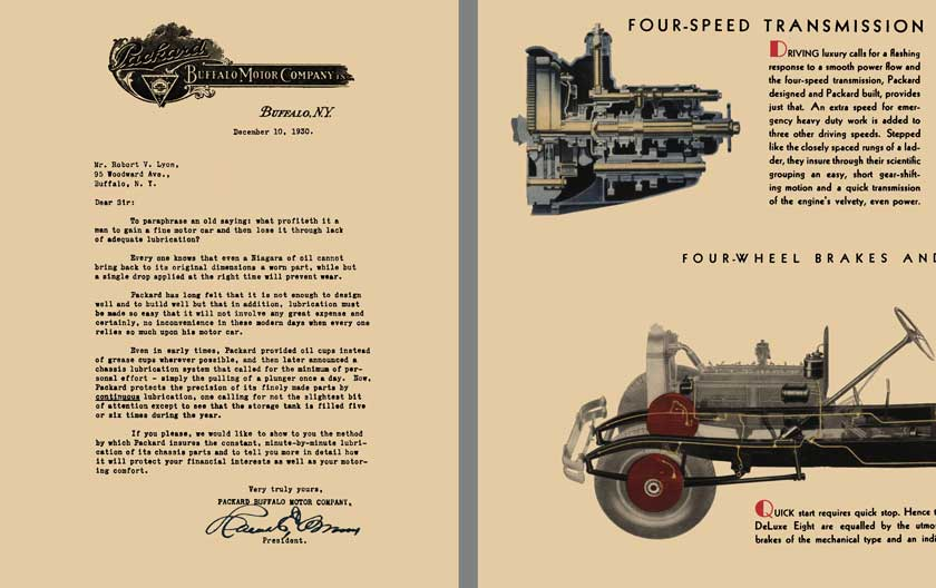 Packard 1931 - The Packard Deluxe Eight - - Simple in Things Mechanical - - Ample in Traffic Agility