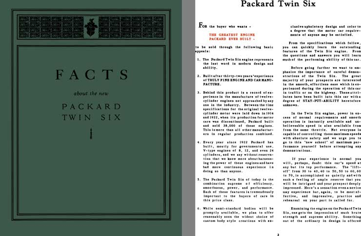 Packard 1932 - Facts About the New Packard Twin Six