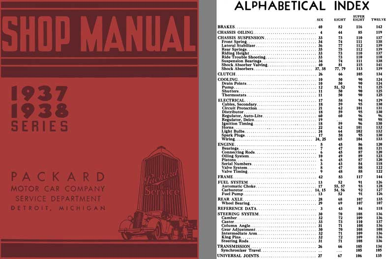 Packard 1937 - Packard 1937 & 1938 Series Shop Manual