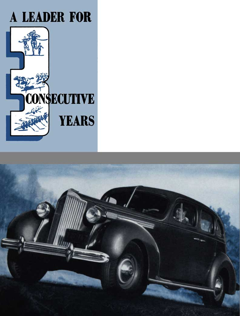 Packard 1938 - A Leader For 3 Consecutive Years - The Packard Eight