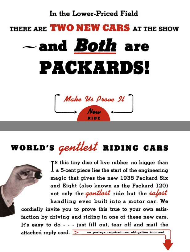 Packard 1938 - There Are Two New Cars at the Show and Both are Packards! - Packard 8 & 120